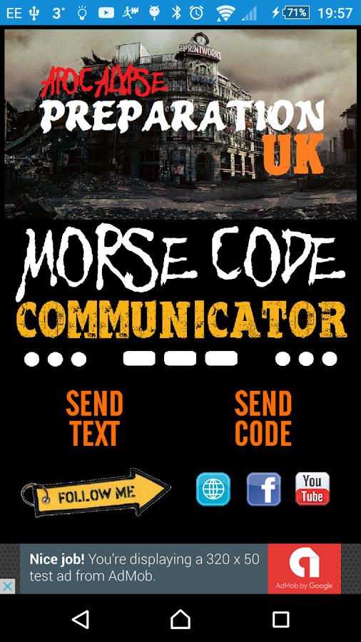 Morse Code Communicator Android App