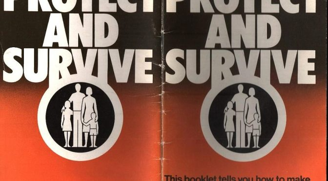 Protect and survive 1980's nuclear war leaflet